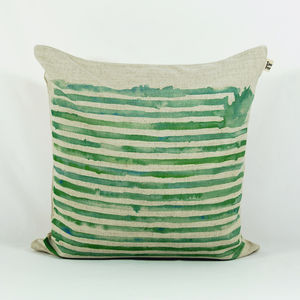 Watercolour Striped Cushion Covers
