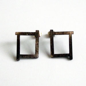Ruins Fade Away Oxidised Earrings