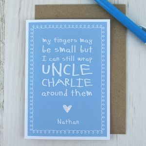 My Fingers May Be Small But… Cute Uncle Card - funny cards