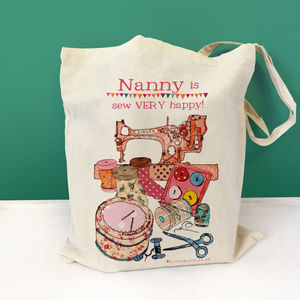 Personalised 'Sewing' Bag - sewing & knitting