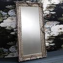 Ornate Antique Silver Leaner Mirror
