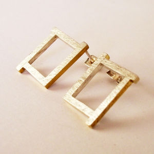 Ruins Fade Away Stud Earrings - earrings