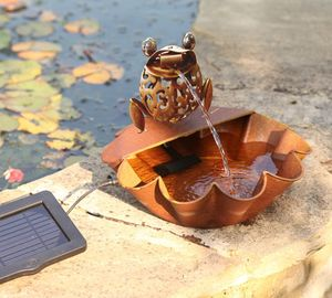 Ting Tang Frog Solar Water Fountain With Solar LED - lights & lanterns