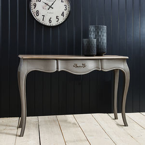Elegant Grey Console Table - bedroom