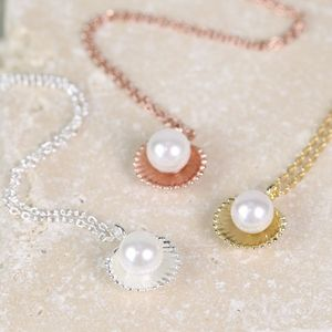 'Ariel' Silver Shell And Pearl Necklace - jewellery gifts for friends
