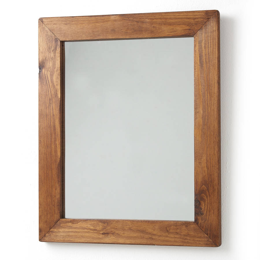 Old wood framed mirrors by horsfall wright for Wood framed mirrors