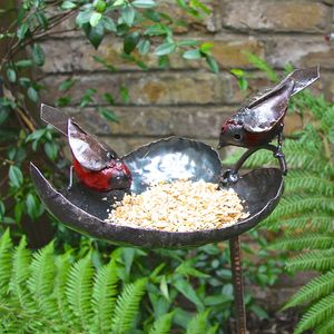 Robin Leaf Bird Feeder - birds & wildlife