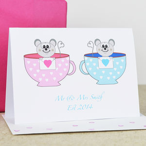 Personalised Mr And Mrs 'Anniversary' Teacup Card