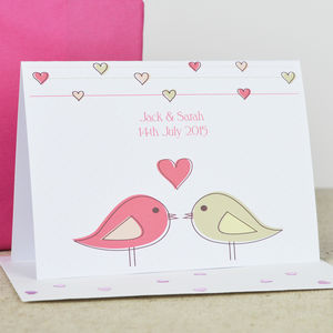 Personalised 'Love Birds' Engagement Card - shop by category
