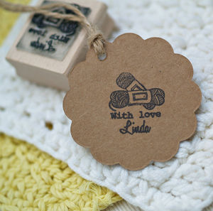 Hand Crochet Rubber Stamp - stamps & inkpads