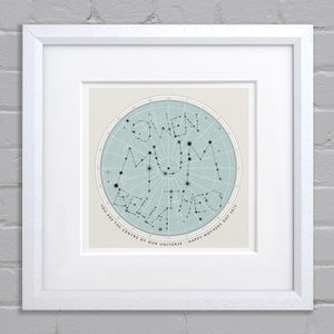 Our Universe Print - top 100 home gifts for dad