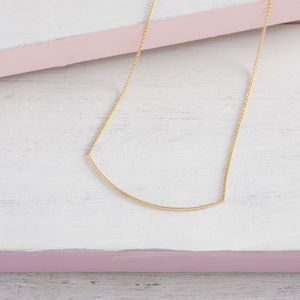 Curved Bar Necklace - necklaces & pendants