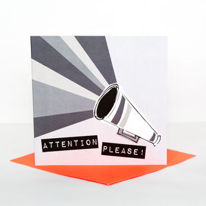 Attention Please Announcement Card