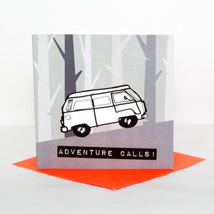 Adventure Camper Leaving Card - new job cards