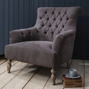 Grand Button Back Armchair - furniture