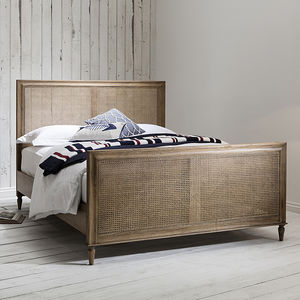 Classic Weathered Cane Bed King Size - beds