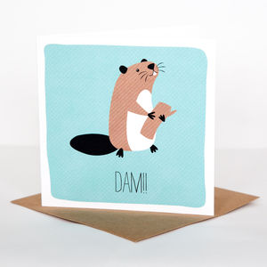 Dam! Card - get well soon cards
