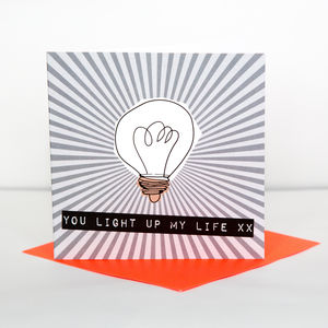 Light Up My Life Anniversary Card - winter sale