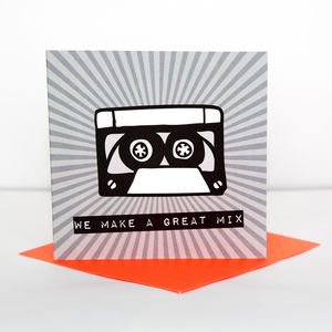 We Make A Great Mix Anniversary Card - anniversary cards