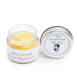 Molten Marshmallow Moustache Wax Jar - gifts for him
