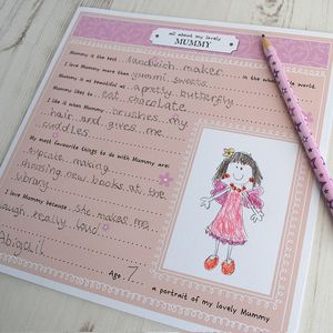 All About My Mummy, Activity Card