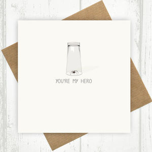 You're My Hero Spider Under A Glass Card - birthday cards