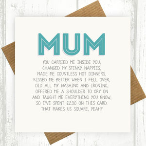 Mum Funny Birthday Card