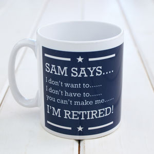 Personalised Retirement Mug - new in home