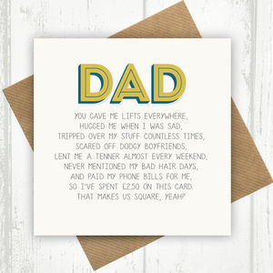 Dad Funny Birthday Card
