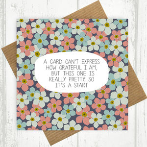 A Card Can't Express How Grateful I Am Card - mother's day cards