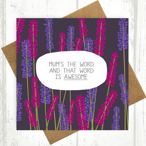 Mum's The Word Card - shop by category