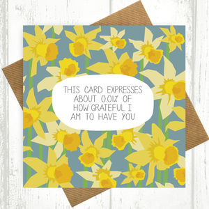 0.01% Of Grateful Card - view all mother's day gifts