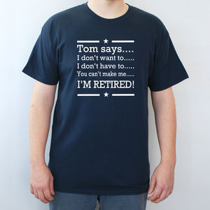 Personalised Retirement T Shirt