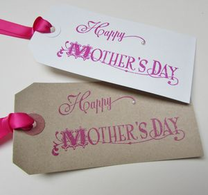 Two Vintage Style 'Mothers Day' Gift Tags