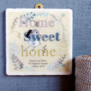 Personalised Home Sweet Home Plaque