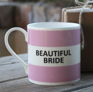 'Beautiful Bride' Mug - gifts for the bride