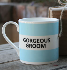 'Gorgeous Groom' Mug - tableware