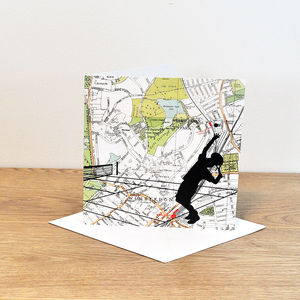 Tennis Over Wimbledon Map - birthday cards