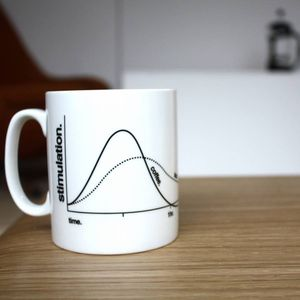 Caffeine Stimulation Graph Mug - kitchen