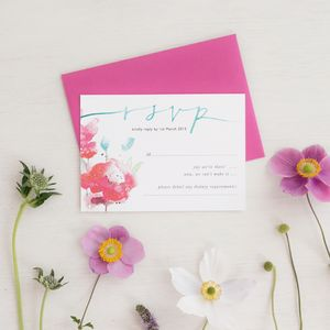 Watercolour Calligraphy RSVP