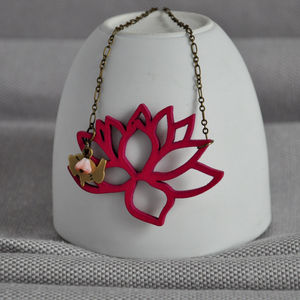 Spindle Flower Necklace - spring brights