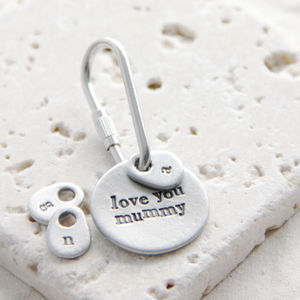 'Love You Mum/Mummy' Keyring - view all gifts for her