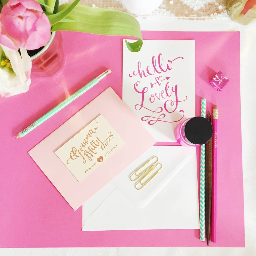 Calligraphy Workshop By Gemma Milly