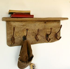 Antique Coat Rack - shelves