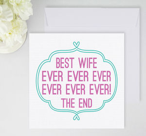 'Best Wife Ever' Card