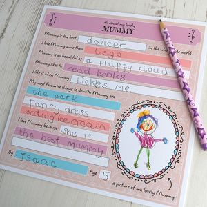 All About My Mummy, Colourful Activity Card