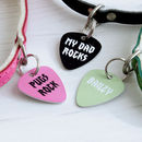 Personalised Rock Pet Tag Pick Shaped
