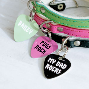 Personalised Rock Pet Tag Pick Shaped - pet tags & charms