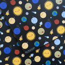 Five Sheets Of Solar System Space Wrapping Paper