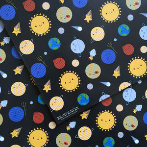 Solar System Space Gift Wrap Set